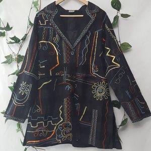 Parsley & Sage embroidered boho pant coat size XL